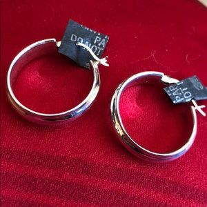 Sterling Silver 925 Hoops for Pierced Ears NWOT